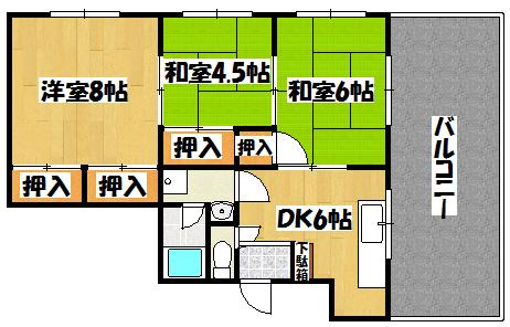 【川島第11ビル】間取図面