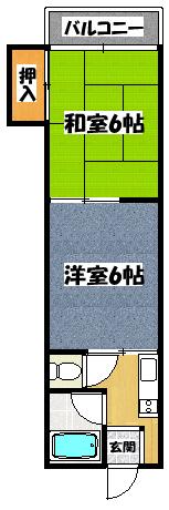 【川島第14ビル】間取図面
