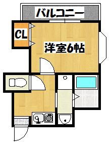 【第五高橋ハイツ】間取図面