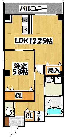 【バッカス 2号室】間取図面