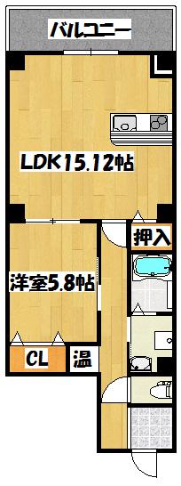 【バッカス 1号室】間取図面
