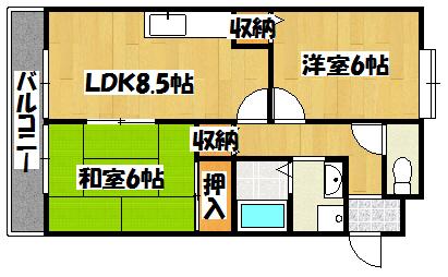 【エスポワールA】間取図面