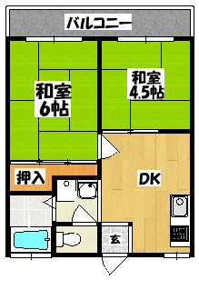【藤田第一高橋ハイツ】間取図面