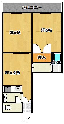 【ハイツタカハシ朝日町】間取図面