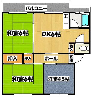 【KNハイツ】間取図面