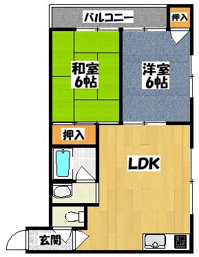 【ロータリーマンション大日】間取図面