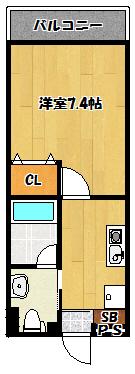 【アクロス大日アパートメントⅡ】間取図面