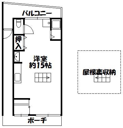 【大橋町平屋】間取図面