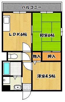 【中野マンション】間取図面