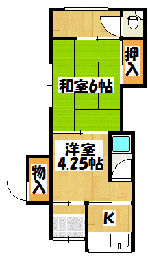 【新橋町井本平屋】間取図面