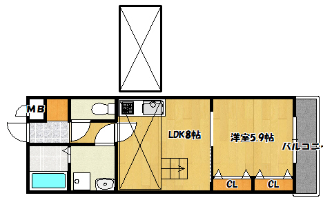 【KTIレジデンス西三荘Ⅱ】間取図面