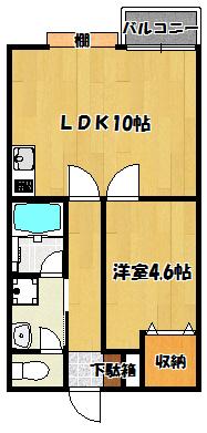 【ラ・グリシーヌ・f】間取図面