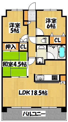 【ルネ大和田駅前フロントゲート】間取図面