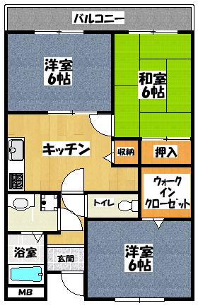 【サンライズ古川橋】間取図面