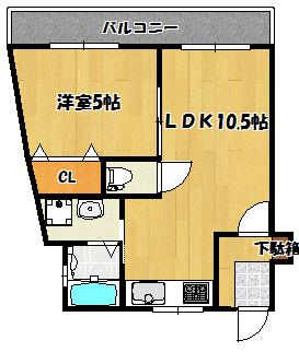 【末広マンション】間取図面