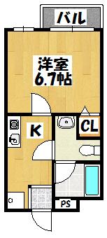 【ディライトキタナカ】間取図面
