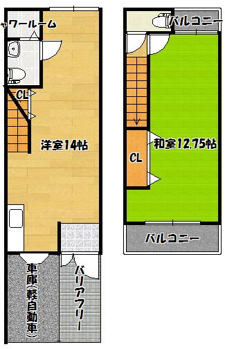 【横田興産貸家】間取図面