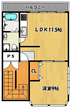 【CDEビル・堂山町】間取図面