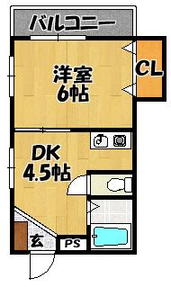 【大和田ハイツ】間取図面