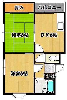 【エクセレント舟田Ⅰ】間取図面