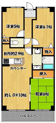 【レックスガーデン鶴見緑地】間取図面