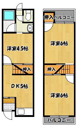 【岸和田3丁目猫テラス】間取図面
