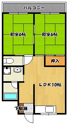 【川島11ビル】間取図面
