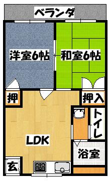 【ヴァーチュアスコンフォート】間取図面