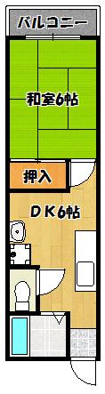 【川島第4ビル】間取図面