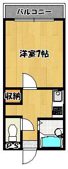 【ロータリーマンション萱島西】間取図面