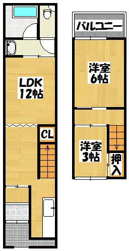 【高井貸家】間取図面