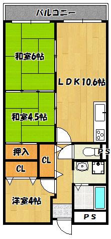 【ライオンズマンション】間取図面
