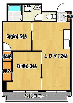 【タウンプラザ東】間取図面