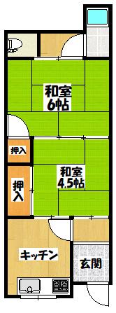 【守口市梶町3丁目改装済み平屋】間取図面